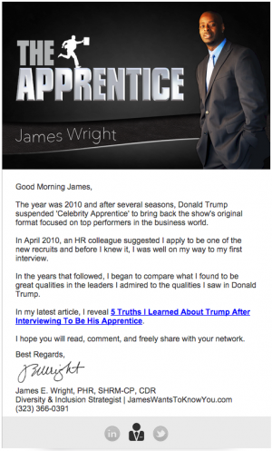 The Apprentice Email